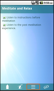 Meditate and Relax Lite - screenshot