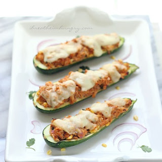 BBQ Chicken Stuffed Zucchini – Low Carb and Gluten Free