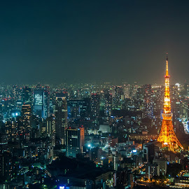 Tokyo Tower by ThengSin Chong - City,  Street & Park  Skylines