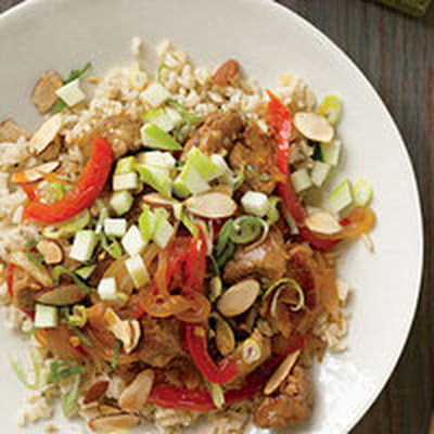 Ginger BBQ Pork or Chicken Stir-Fry