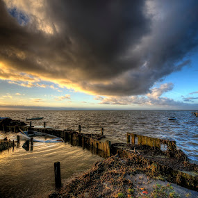 January mood by Kim  Schou - Landscapes Cloud Formations ( venholm, kim schou, hdr, sunset, lolland )