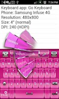 Screenshot of Simply Pink Keys Keyboard Skin