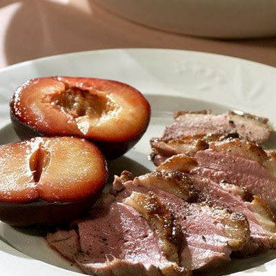 Duck Breasts with Roasted Plums