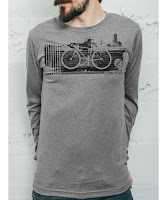 Curbside Curbcycle - Grey Men's Long Sleeve