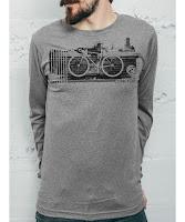 Curbside Curbcycle - Grey Men's Long Sleeve