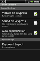 Screenshot of Turkish Keyboard
