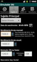 Screenshot of Simulador IRS (2012)