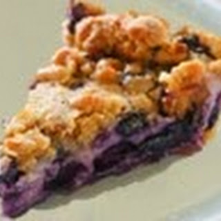 Creamy Blueberry Custard Pie