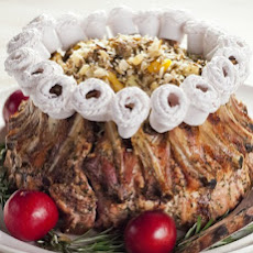 Crown Roast of Pork with Wild Rice Stuffing