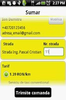 Screenshot of Grant Taxi Bucharest