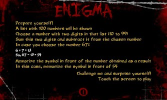 Screenshot of Enigma - amazing magic trick
