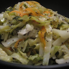 Hot Coleslaw With Poppy-Seed Dressing