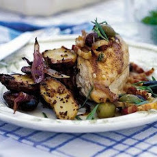 Chicken With Tarragon, Garlic & Olives