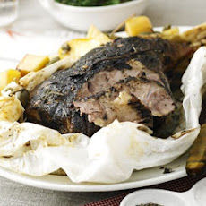 Slow-roasted Paper-wrapped Leg Of Lamb