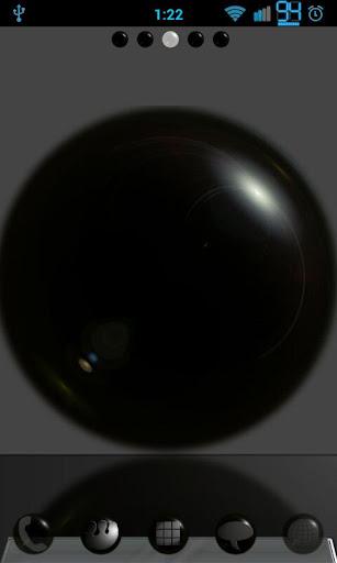 Black Spheres GoLauncher Theme