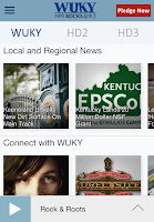 Screenshot of WUKY Public Radio App