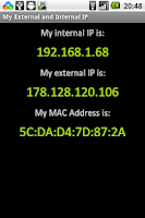 Screenshot of My External and Internal IP