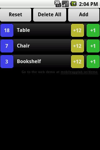 Inventory PhoneGap Demo