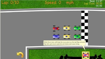 Screenshot of 2D Tiny Car Racing Lite