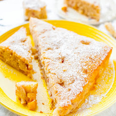 Peaches and Cream Fluffy Muffin Cake