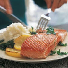Seared Salmon with Potatoes