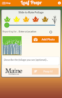 Screenshot of Foliage Leaf Peepr