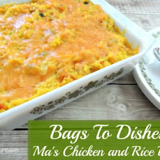 Ma's Rice and Veggie Bake ~Bags To Dishes~