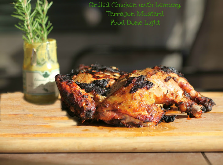 Grilled Chicken with Lemon, Rosemary, Tarragon and Mustard Recipe ...
