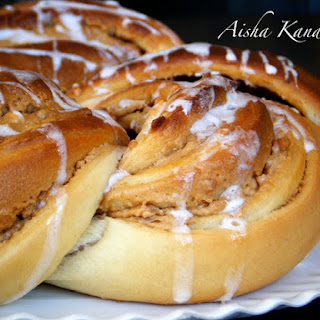 Kringle with Nougat Cream and Almond Crocanti