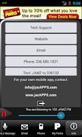 Screenshot of 102 JAMZ FM