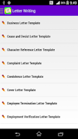 Screenshot of English Letter Writing Free