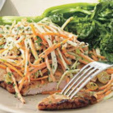Pan-Fried Pork with Apple Slaw