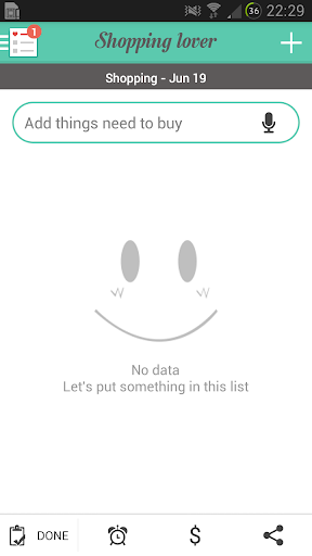 Shopping Lover - Shopping List - screenshot