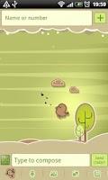 Screenshot of GO SMS Pro Retro Bird Theme
