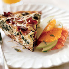 Frittata with Bacon, Greens and Caramelized Apples