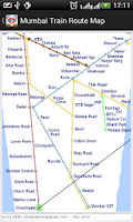 Screenshot of Mumbai Train Route Planner Map