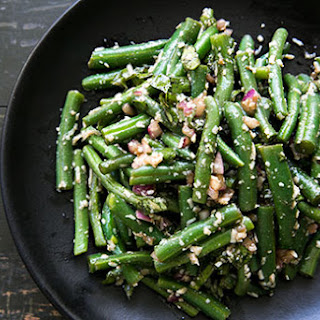 Green Bean Salad with Basil, Balsamic, and Parmesan