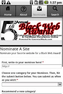 Black Web Awards - screenshot