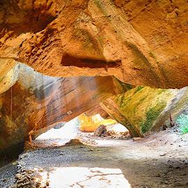 play of light @naida caves...diu by Jignesh Chauhan - Nature Up Close Rock & Stone
