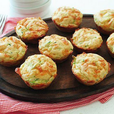 Cheesy Garlic Zucchini Muffins