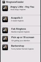 Screenshot of 50 greatest ringtones