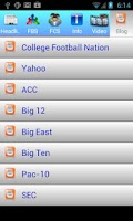 Screenshot of College Football News 2014