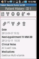 Screenshot of Patient Records Doctor ON GO-T
