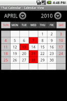 Screenshot of Thai Calendar