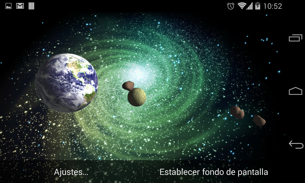 3D Galaxy Live Wallpaper Full Screenshot 16
