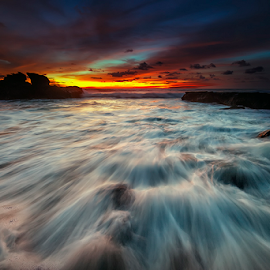Melasti Beach by Nyoman Sundra - Landscapes Sunsets & Sunrises ( bali, sunset, melasti, beach, landscape, tabanan )