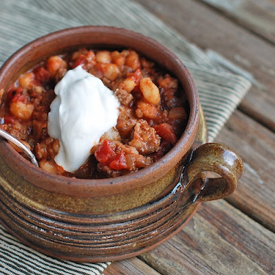 Smoky White Bean Chili with Pork
