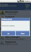 Screenshot of IGM mobiel