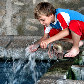 Drinking water by Antonio Amen - Babies & Children Children Candids