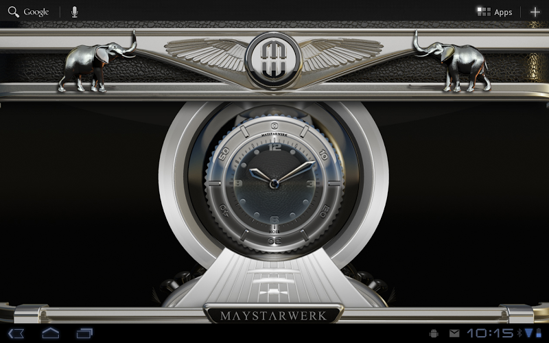 Clock Widget Black Elephant Screenshot 5